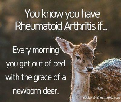 You know you have Rheumatoid Arthritis if....