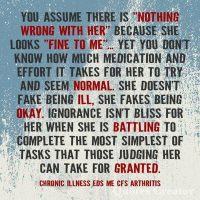 Chronic Illness Not Faking Being Ill